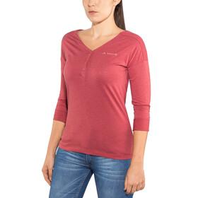 VAUDE Elassona 3/4 Shirt Women red cluster